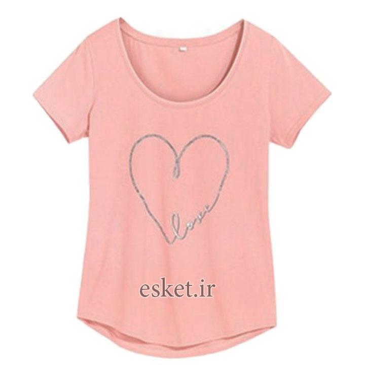 تی شرت آستین کوتاه زنانه بلو موشن مدل 0022902 - تیشرت زنانه شیک و جدید