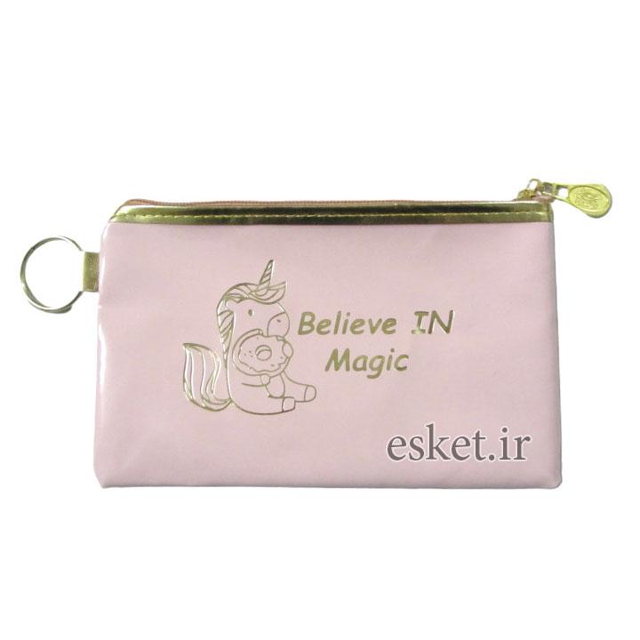 کیف لوازم آرایش دخترانه شیک مدل یونیکورن کد W100